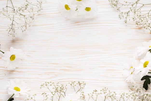 Plat elegant bloemenframe Gratis Foto