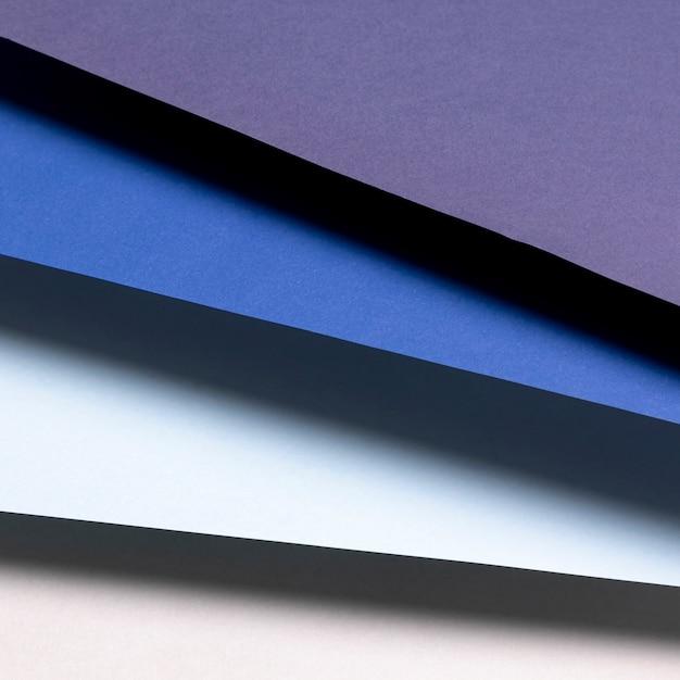 Plat lag blauw tinten patroon Gratis Foto