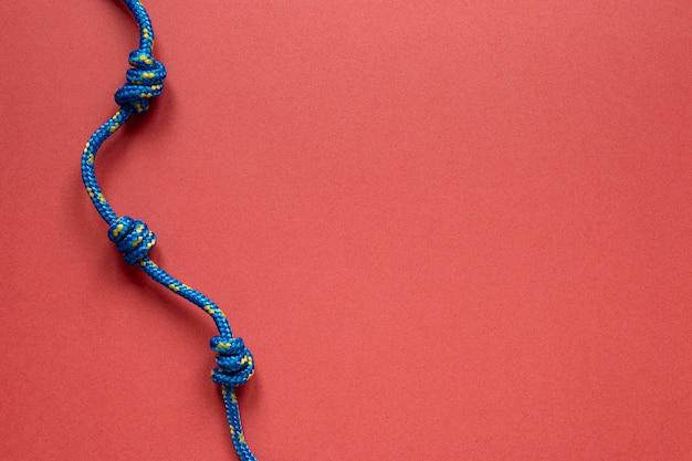 Plat lag blauwe zeeman touw knoop Gratis Foto