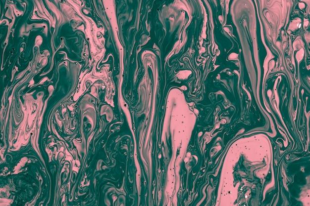 Plat lag gemengde roze en groene verf Gratis Foto