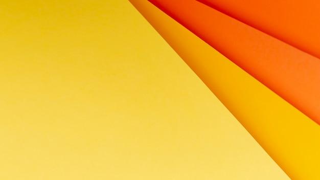 Plat lag oranje tinten patroon Gratis Foto