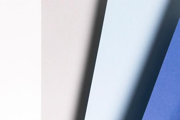 Plat lag patroon met verschillende tinten blauw close-up Gratis Foto