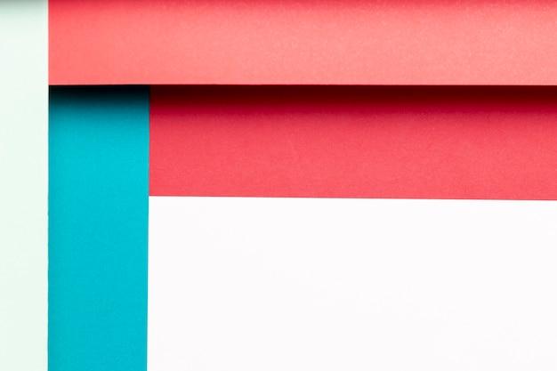 Plat lag patroon met verschillende tinten kleuren Gratis Foto