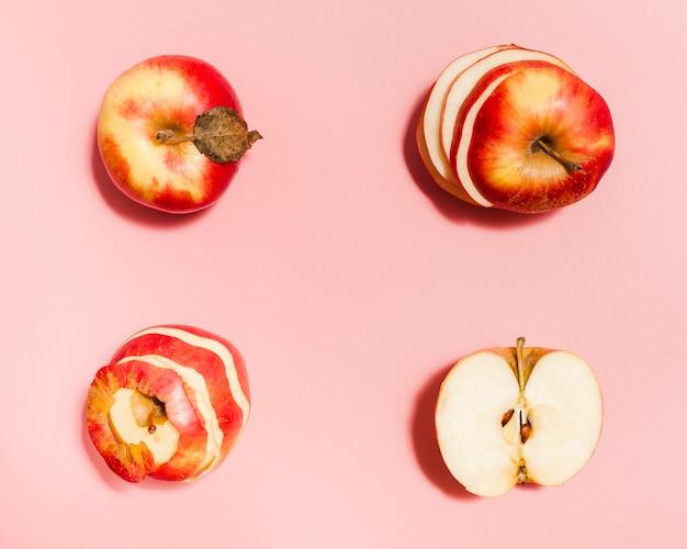 Plat lag rode appels arrangement Gratis Foto