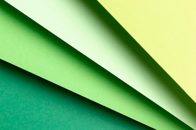 Plat lagen verschillende tinten groenpatronen Gratis Foto