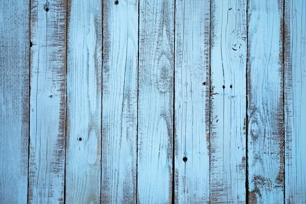Plat leggen blauwe houten plank achtergrond Gratis Foto