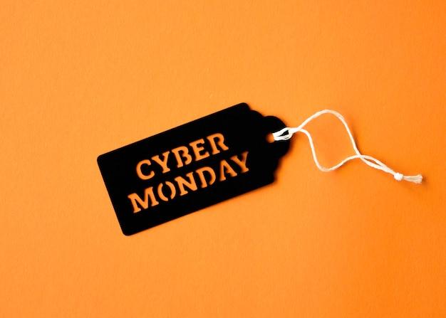 Plat leggen van cyber maandag-tag Gratis Foto