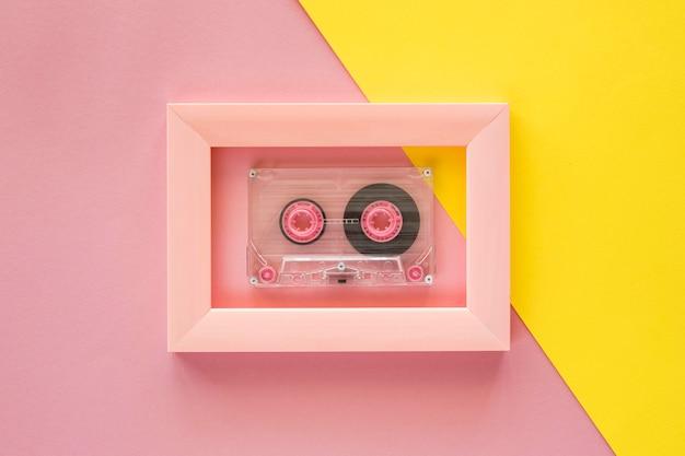 Plat leggen van muziek concept met kopie ruimte Gratis Foto