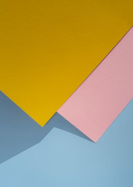 Plat leggen veelhoek papieren ontwerp Gratis Foto