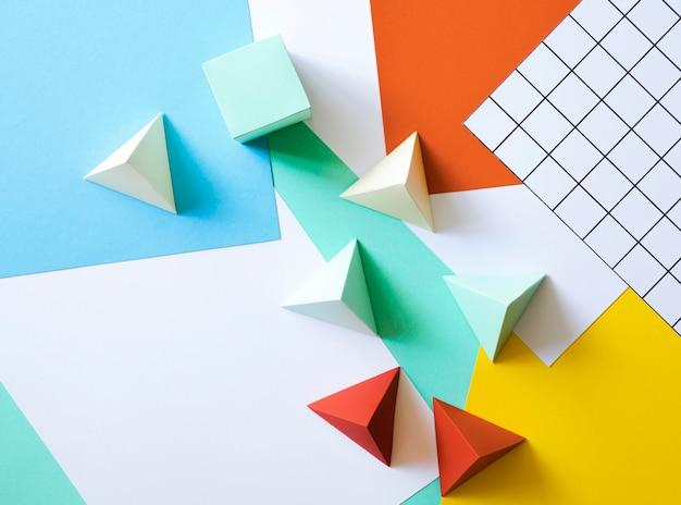 Plat papier geometrische vorm Gratis Foto