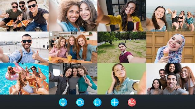 Platform voor zakelijke videogesprekken Premium Foto
