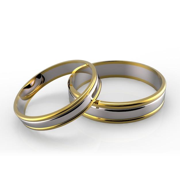 Platina trouwringen Premium Foto