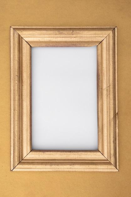 Platliggend mock-up houten frame Gratis Foto