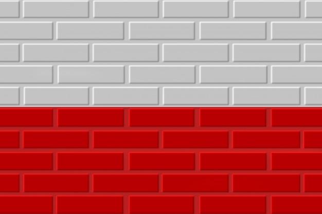 Polen baksteen vlag illustratie Premium Foto