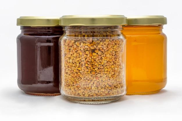 Pollen en honingpotten Gratis Foto