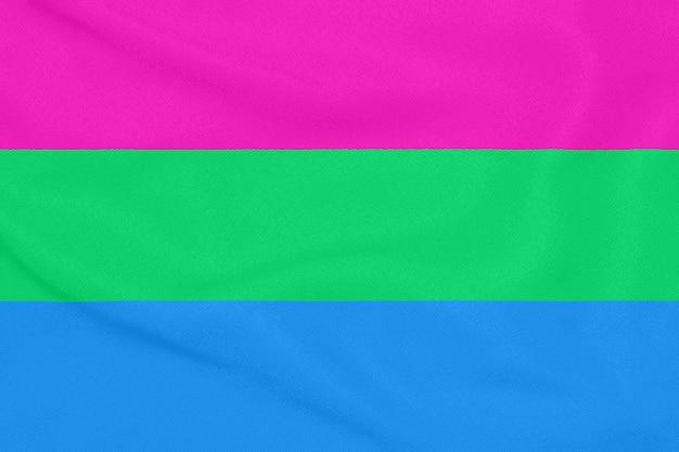 Polysexuele gemeenschapsvlag Premium Foto
