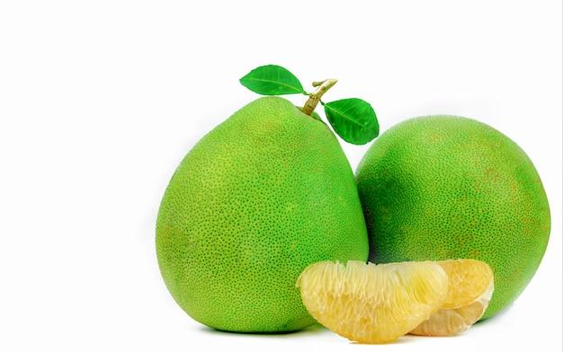 Pompelmoespulp zonder geïsoleerde zaden. gezond eten. citrusvrucht. Premium Foto
