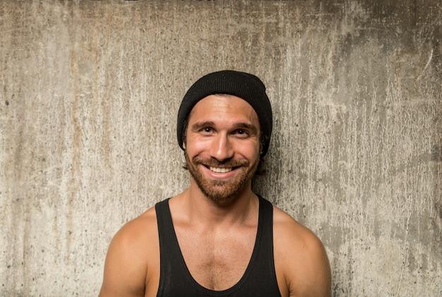 Portret van een atleet man Premium Foto