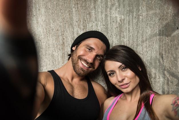 Portret van een atleet paar Premium Foto