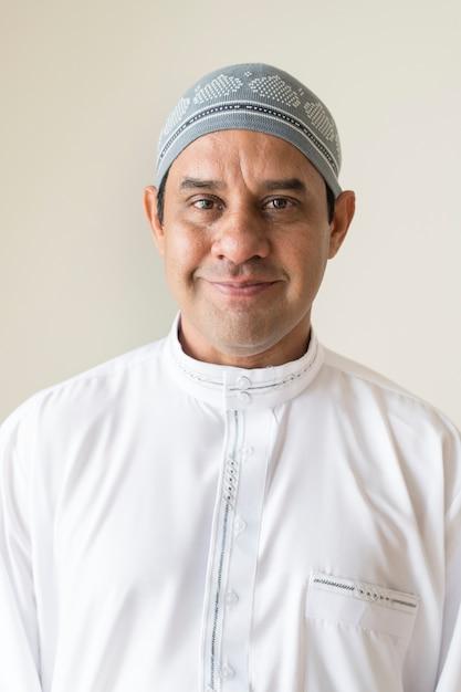 Portret van een moslimman Premium Foto