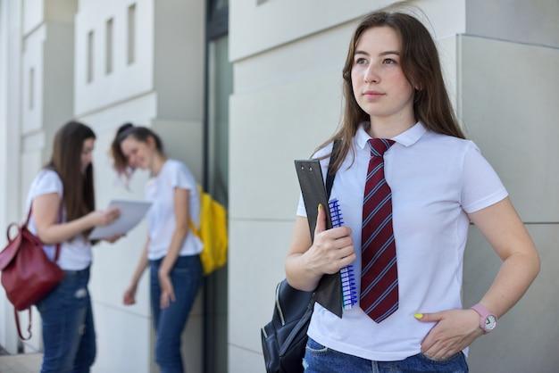 Portret van het meisje van de middelbare schoolstudent Premium Foto