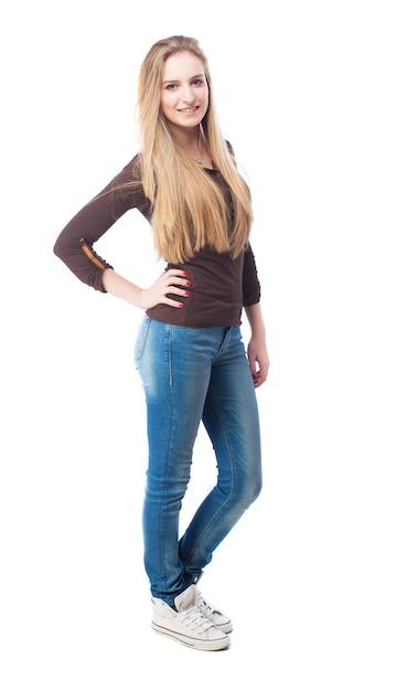 Citaten Weergeven Jeans : Positieve tiener in jeans foto gratis download