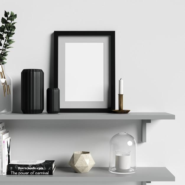 Poster mockup interieur met mooie decoraties Premium Foto