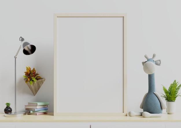 Posters in kinderkamer interieur. Premium Foto