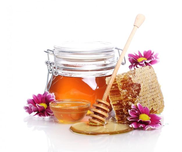 Pot met verse honing Gratis Foto