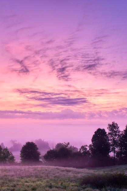 Prachtig landschap van de zonsopgang op het platteland van northwest pennsylvania Gratis Foto
