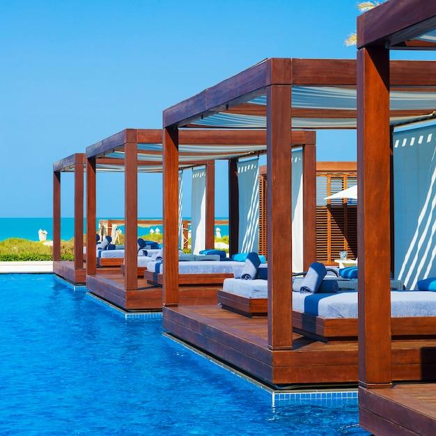 Prachtig luxe resort en spa voor vakanties Premium Foto