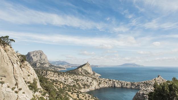 Prachtig oceaanlandschap panoramisch uitzicht Gratis Foto