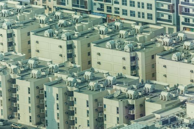 Prachtig uitzicht over de stad dubai van bovenaf Gratis Foto