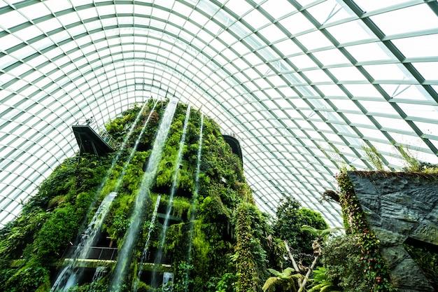 Prachtige architectuur gebouw bloem dome tuin en kas bos voor reizen Gratis Foto