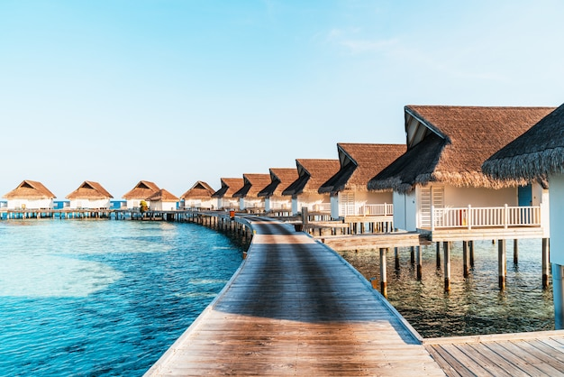 Prachtige tropische resort op de malediven-eilanden Premium Foto