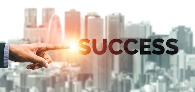 Prestatie en succes van bedrijfsdoelstellingen Premium Foto