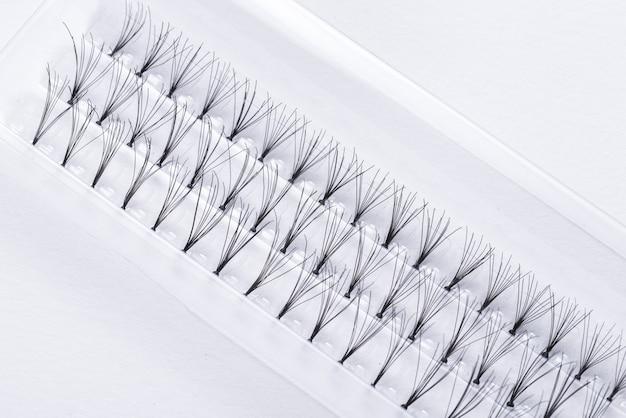 Prifessional set van valse wimpers, close-up Premium Foto