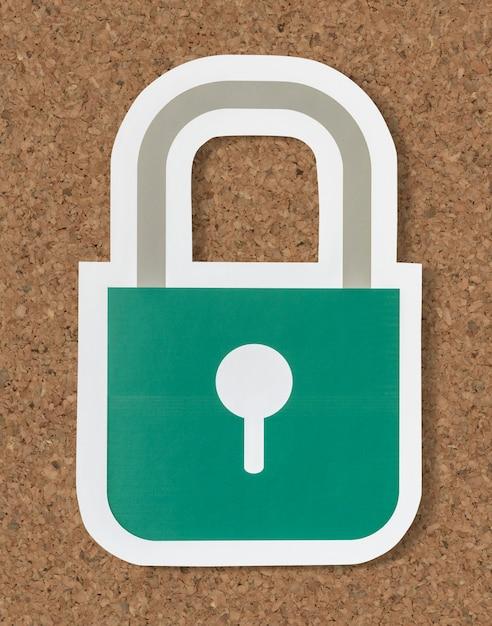 Privacy veiligheid vergrendelingspictogram Gratis Foto
