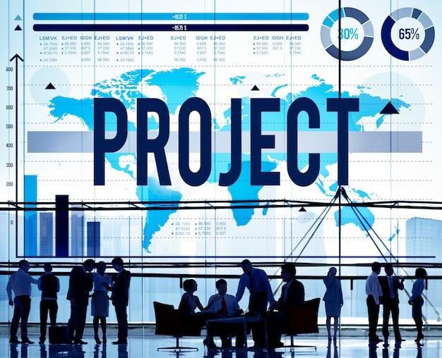 Projectplan programma activiteit oplossing strategie concept Gratis Foto