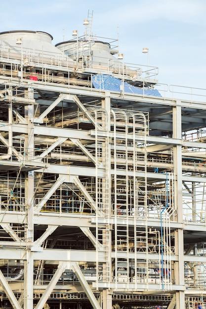 Raffinaderij fabriek met lng Premium Foto