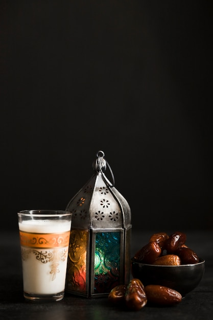 Ramadan-dagviering kopie-ruimte Premium Foto