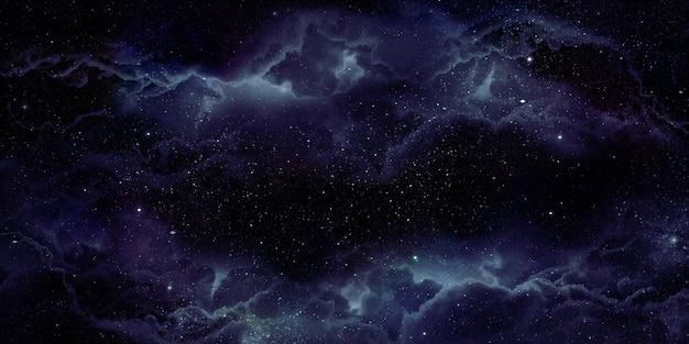 Realistische nevel ruimte achtergrond de stralende sterren meegesleurd met sterrenstof en de fantasie melkweg. magische kleur melkwegstelsel het universum en de sterrenhemel 3d illustratie Premium Foto