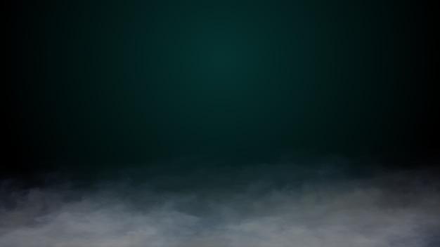 Realistische wolken rook mist droog ijs op de grond halloween achtergrond Premium Foto