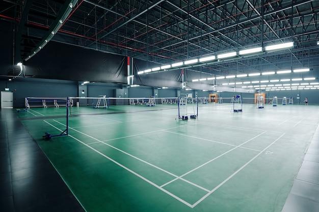Rechtbanken voor tennis en badminton Premium Foto
