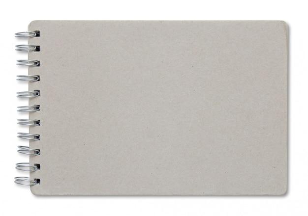Recycle laptop dekking geïsoleerd op witte achtergrond Premium Foto