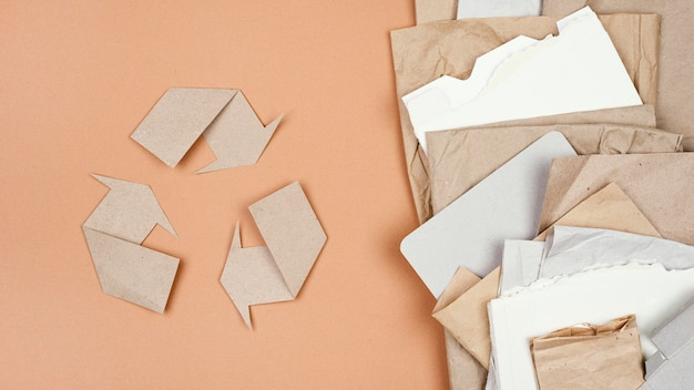 Recycling concept plat leggen Gratis Foto