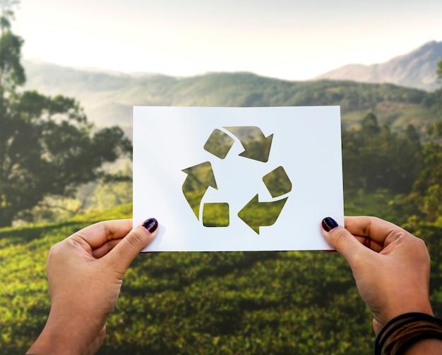 Red de wereld-ecologie milieubehoud geperforeerd papierrecycling Gratis Foto