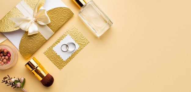 Regeling van bruid bruiloft concept kopie ruimte Gratis Foto