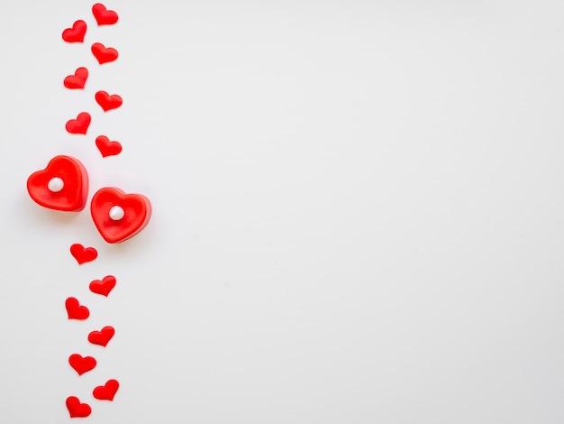 Regeling van harten met kopie ruimte Gratis Foto