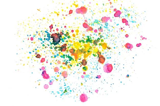 Regenboog aquarel vlek met kleur tinten verf achtergrond Premium Foto